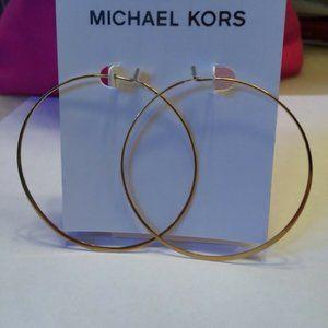 NEW Large Hoop Earrings  Authentic Michael Kors